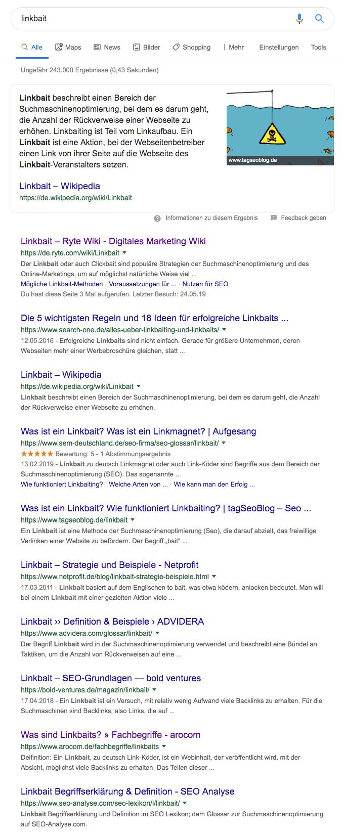 serp keyword finden seo text