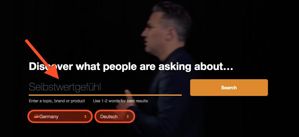 Screenshot Tool AnswerThePublic.com
