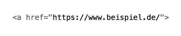 Link im Quelltext, HTML