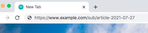 URL, schlechtes Beispiel, Screenshot