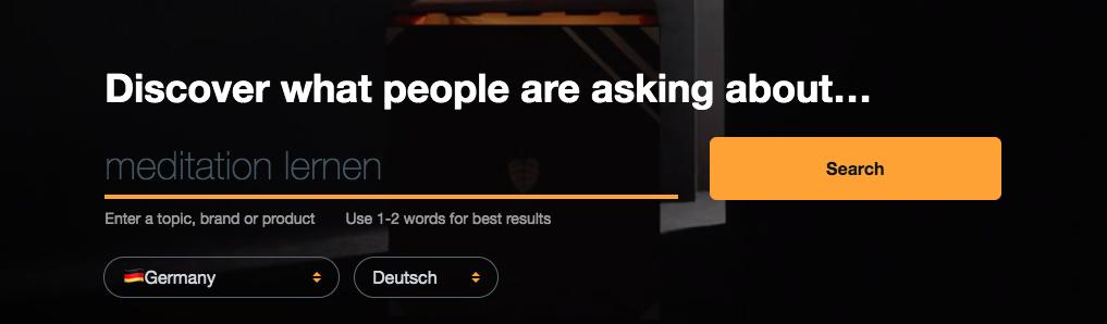 answerthepublic keyword tool