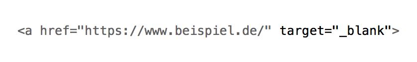 externe Links, öffnen im neuen Tab, Quelltext