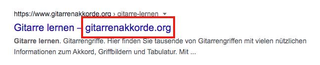 Seitentitel Beispiel: Website-Name im Titel